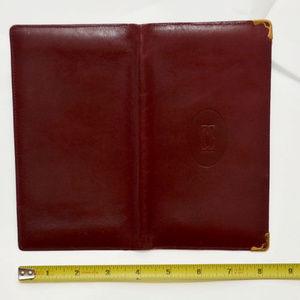 vintage cartier paris soft leather wallet red gold